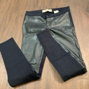 hollister navy leather pants